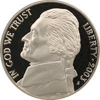 2003 P Jefferson Nickel Value | CoinTrackers
