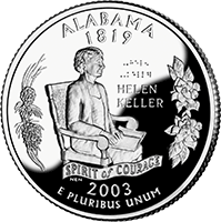 2003 S Alabama State Quarter Proof