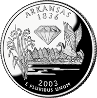 2003 S Arkansas State Quarter Proof