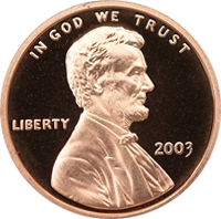 2003 S Lincoln Penny Proof