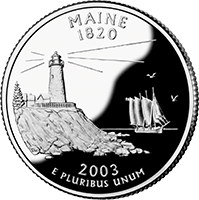 2003 S Maine State Quarter Proof