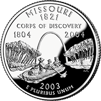 2003 S Missouri State Quarter Proof