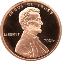 2004 S Lincoln Penny Proof