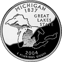 2004 S Michigan State Quarter Proof