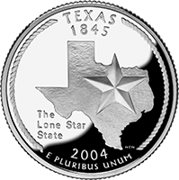 2004 S Texas State Quarter Proof