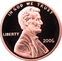 2006 S Lincoln Penny Proof