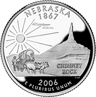 2006 S Nebraska State Quarter Proof