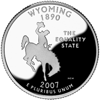 2007 S Wyoming State Quarter Proof