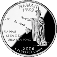 2008 S Hawaii State Quarter Proof