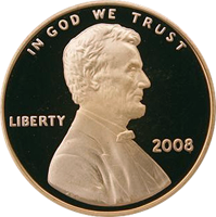 2008 S Lincoln Penny Proof