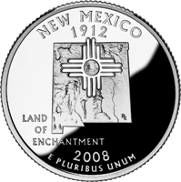 2008 S New Mexico State Quarter Proof