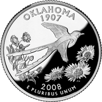 2008 S Oklahoma State Quarter Proof
