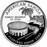 2009 S American Samoa Quarter Proof