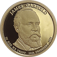 2011 S James Garfield Dollar Proof