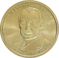 2014 P Warren G Harding Dollar