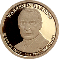 2014 S Warren G Harding Dollar Proof